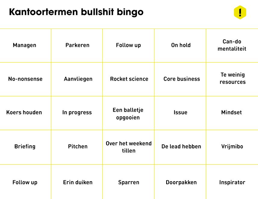 limbo bullshit bingo